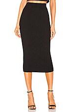 ELEVEN SIX Eva Sweater Skirt in Black