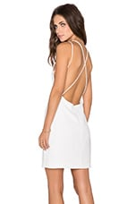 Open Back Dress in White