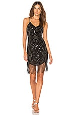 Endless Rose Beaded Dress in Black