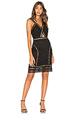 Endless Rose Lace And Grommet Dress in Black