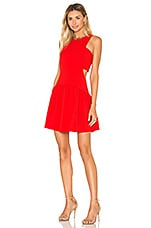 Endless Rose Woven Sleeveless Fit & Flare Dress in Red