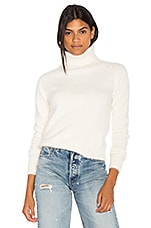 Endless Rose Wide Turtleneck Sweater in Off White