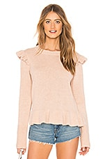 Endless Rose Ruffle Detail Angora Sweater in Beige