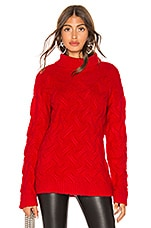 Endless Rose Chunky Knit Sweater in Red
