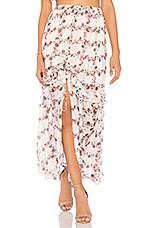 Endless Rose Ruffled Skirt in Fence Of Roses