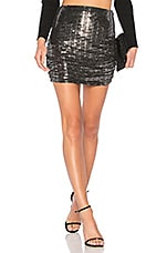 Endless Rose Sparkling Ruched Skirt in Silver