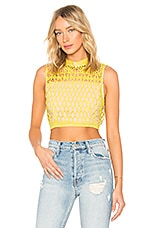 Endless Rose Guipure Lace Top in Citron
