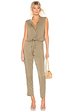 Enza Costa Sleeveless Jumpsuit in Military