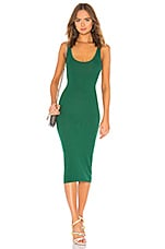 Enza Costa Rib Tank Dress in Emerald