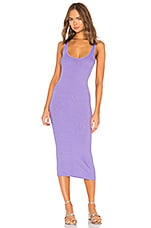 Enza Costa Rib Tank Dress in Lavender