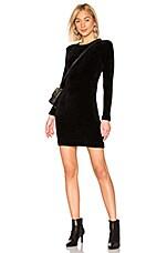 Enza Costa Chenille Mini Dress in Black