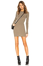 Enza Costa Cashmere Thermal Mini Dress in Pebble