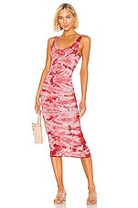 Enza Costa Silk Rib Tank Dress in Fuchsia Iconic