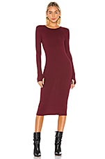 Enza Costa X REVOLVE Rib Midi Dress in Reddened Brown