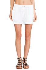 Linen Utility Short in White