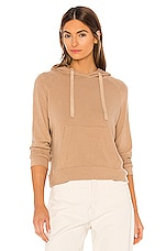Enza Costa Peached Jersey Easy Hoodie in Sandstone