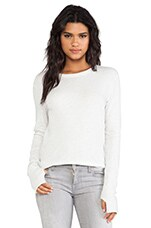 Cashmere Loose Crew in Ash