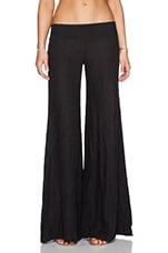 Linen Wide Leg in Faded Black
