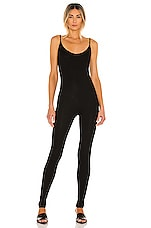 Enza Costa Rib Strappy Jumpsuit in Black