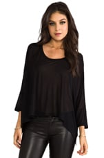 Viscose Oversized Crew in Black