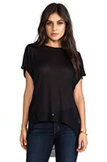 Sheer Rib Panel Tank in Black