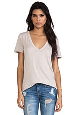 Loose Short Sleeve V Tee in Quartz