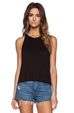 Cropped Sheath Tank in Black