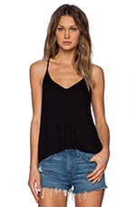 Rib Tuck Tank in Black