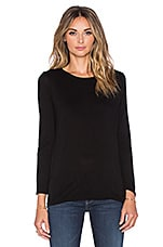 Bracelet Crew Neck Top en Noir