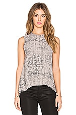Sleeveless Trapeze Top en Limestone Etch