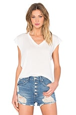 T-SHIRT CROPPED ENCOLURE V SANS MANCHES