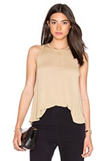 Stretch Crepe Jersey Trapeze Tank in Mojave