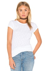 T-SHIRT COTTON SLUB RIB