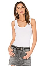 Enza Costa Rib Fitted Tank in White