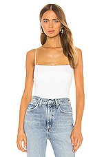 Enza Costa Silk Rib Essential Tank in White