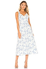 Equipment Oleisa Dress in Natural White Blue Floral