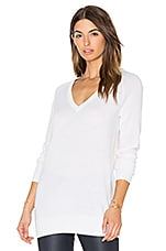 Asher V Neck Sweater in Ivory