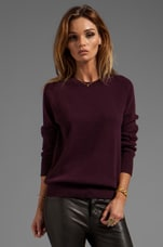 Sloane Crew Neck Sweater in Cabernet
