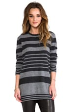 Rei Slouchy Pullover in Charcoal Grey/Heather Grey