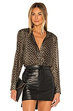 Equipment Leema Top in Black & Gold