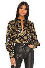 Equipment Boleyn Blouse in Black Gold