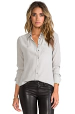 Brett Vintage Wash Blouse in Ash