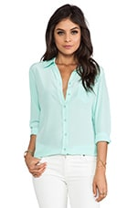 Brett Vintage Wash Blouse in Ice Green