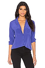Slim Signature Blouse en Biro Blue