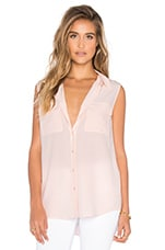 Sleeveless Slim Signature Blouse en Rose
