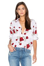Signature Twisted Rose Blouse en Imprimé Blanc