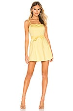The East Order Goldie Mini Dress in Lemon