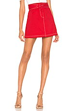 The East Order Misty Skirt in Red Twill