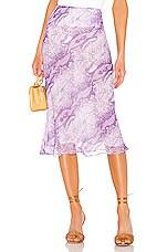 The East Order X REVOLVE Midi Skirt in Purple Snake