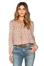 Sunset Meadow Blouse en Golden Mushroom